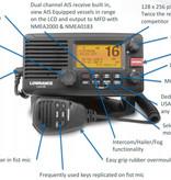 Lowrance link-8 DSC marifoon met AIS ontvanger.