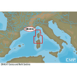 C-Map EM-Y147: Corsica And North Sardinia