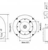 Intellian I6L Inland/Binnenvaart 60cm, quad out, 20gr/sec