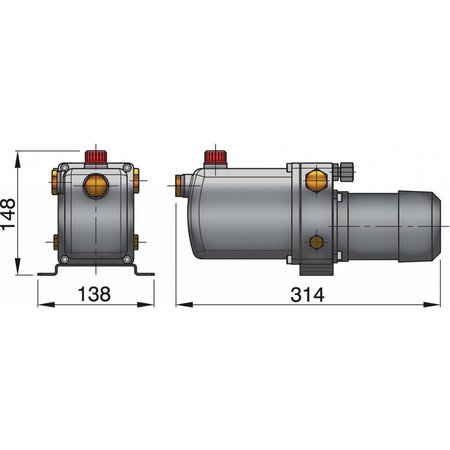 Vetus Elektro-Hydraulische pomp, type D