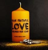 """Kerze """"Your faithful love"""""""