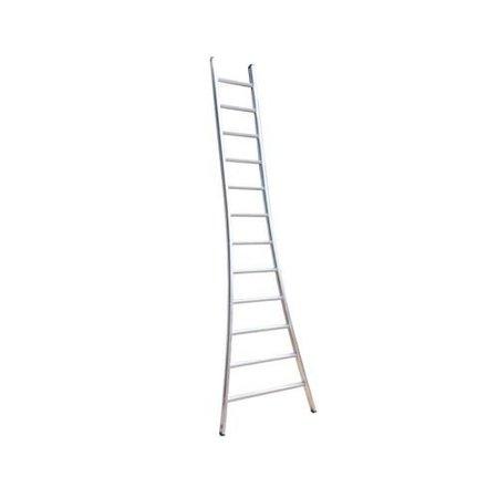 Enkele ladder 1x8 Maxall uitgebogen