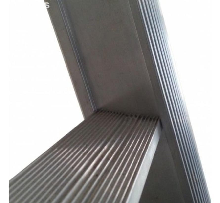 Driedelige ladder 3x10 Maxall uitgebogen blank