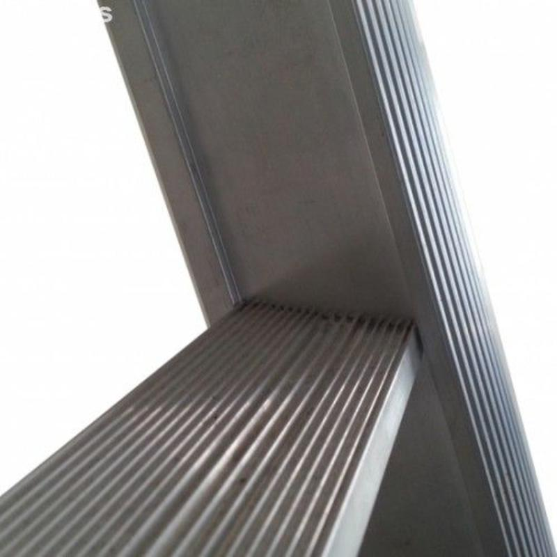 Driedelige ladder 3x14 Maxall uitgebogen blank