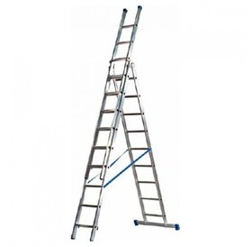 Driedelige ladder 3x10 Basic-Line Maxall