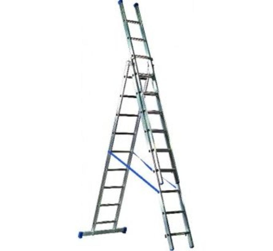 Driedelige ladder 3x10 Basic-Line Maxall
