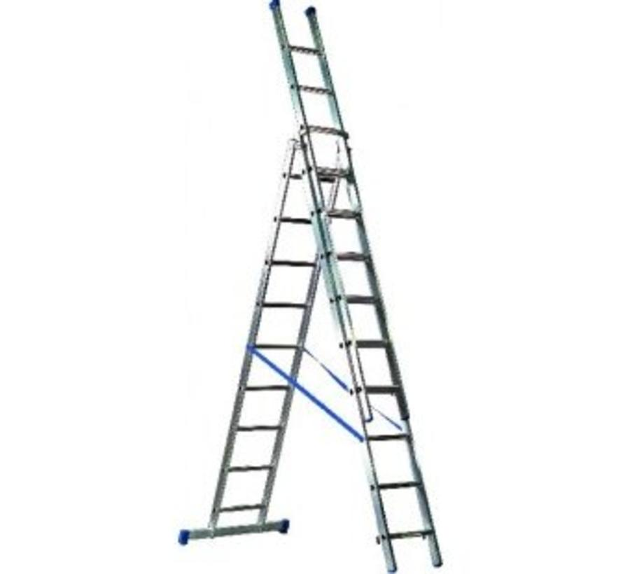 Driedelige ladder 3x9 Basic-Line Maxall