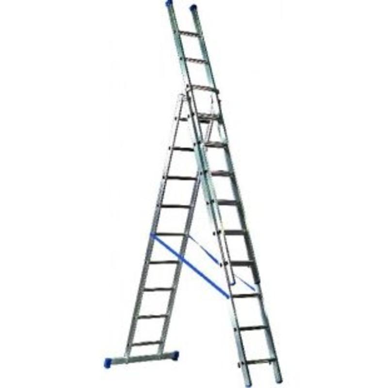 Driedelige ladder 3x8 Basic-Line Maxall