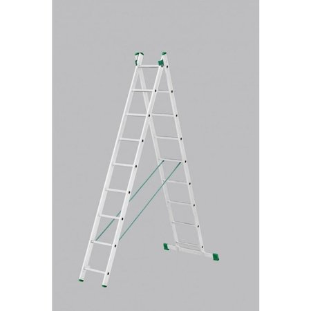 Tweedelige ladder 2x9 Basic-Line Maxall