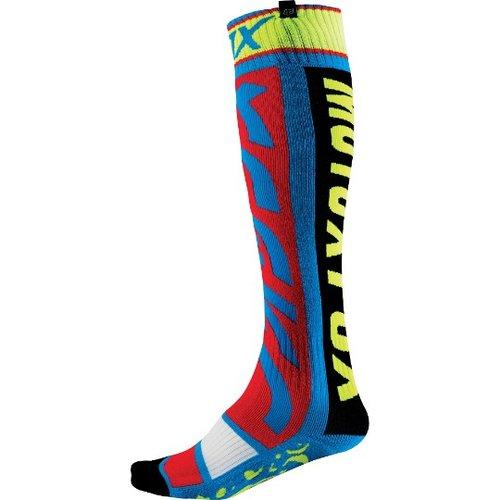 Fox 2016 FRI Divizion Thin Sock Blue/Yellow