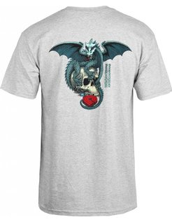 Dragon Skull T-shirt Grey