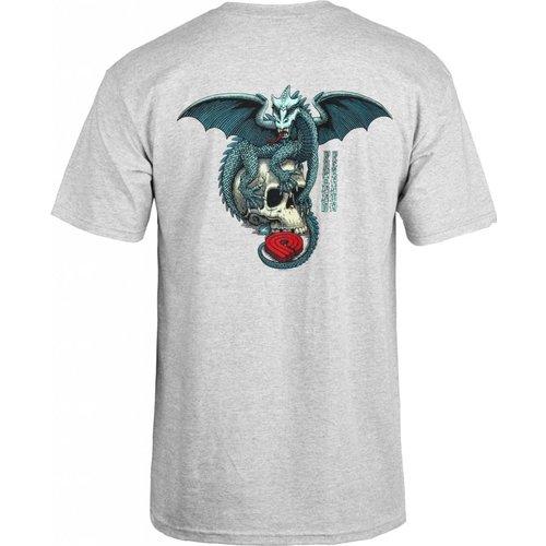 Powell Peralta Dragon Skull T-shirt Grey
