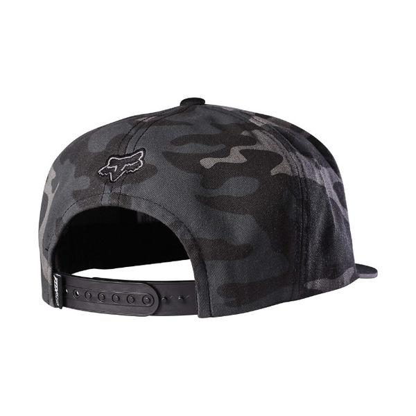 ac2574c139e Fox Keep Out Snapback Hat - Black Camo Afbeelding vergroten