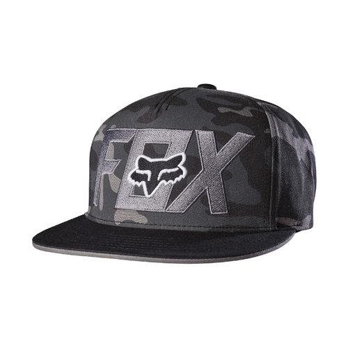 Fox Keep Out Snapback Hat - Black Camo