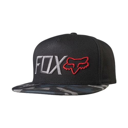 Fox Obsessed Snapback Hat - Black Camo