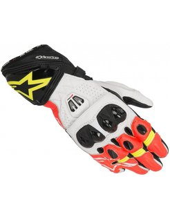 Gp Pro R2 Gloves - Black/White/Red-Yellow Fuo