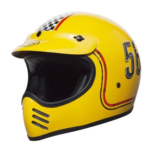 Premier® Vintage Trophy Mx Helmet - Yellow