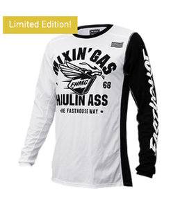 Mixin Gas & Hauling Ass Jersey - White