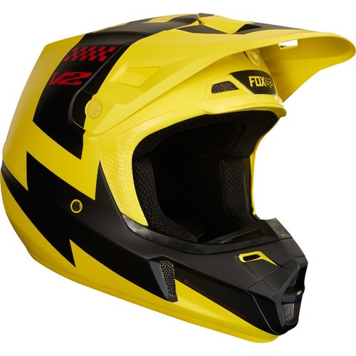 Fox V2 Mastar Helmet - Yellow