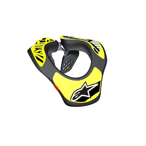 Alpinestars Youth Neck Support - Black/Yellow Fluo