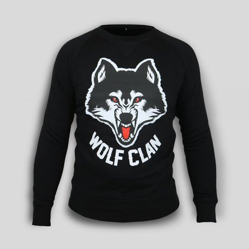 Wolf Clan Black Crewneck