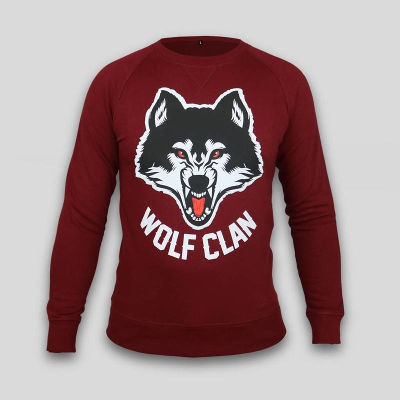 Wolf Clan Burgundy Crewneck