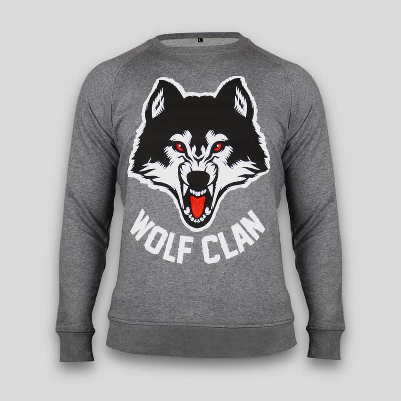 Wolf Clan Heather Grey Crewneck