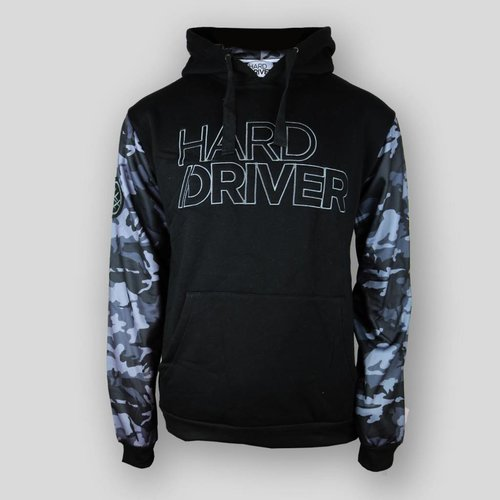 Hard Driver - Camo Hooded Sweater