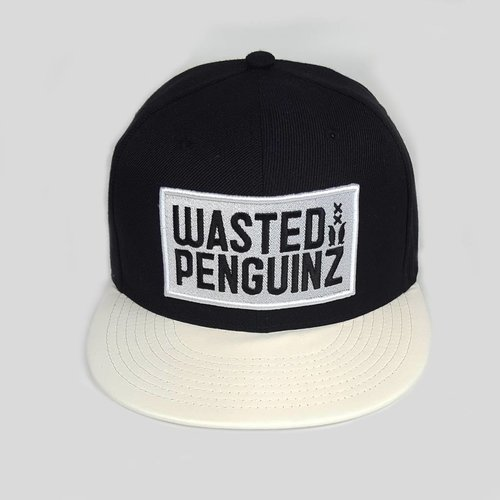 Wasted Penguinz - Black/White Snapback