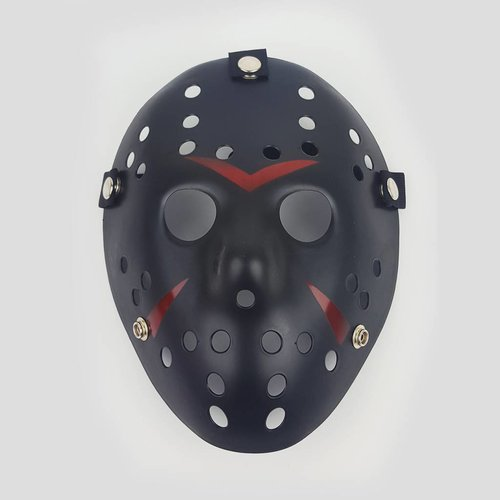 Jason Mask Black Striped
