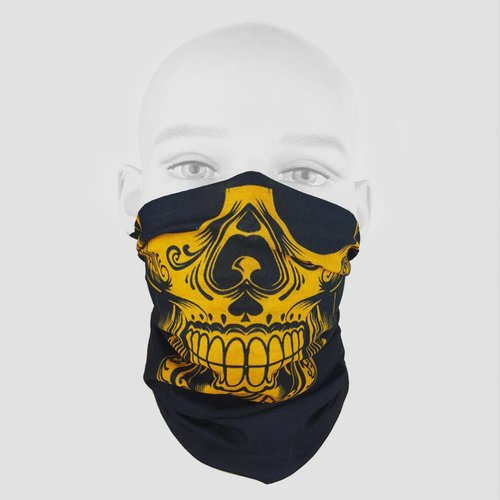 Skull Yellow Bandana