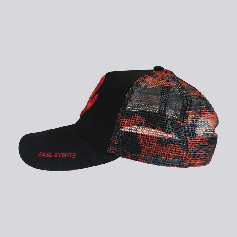 Bass Events Black Camo Trucker Cap