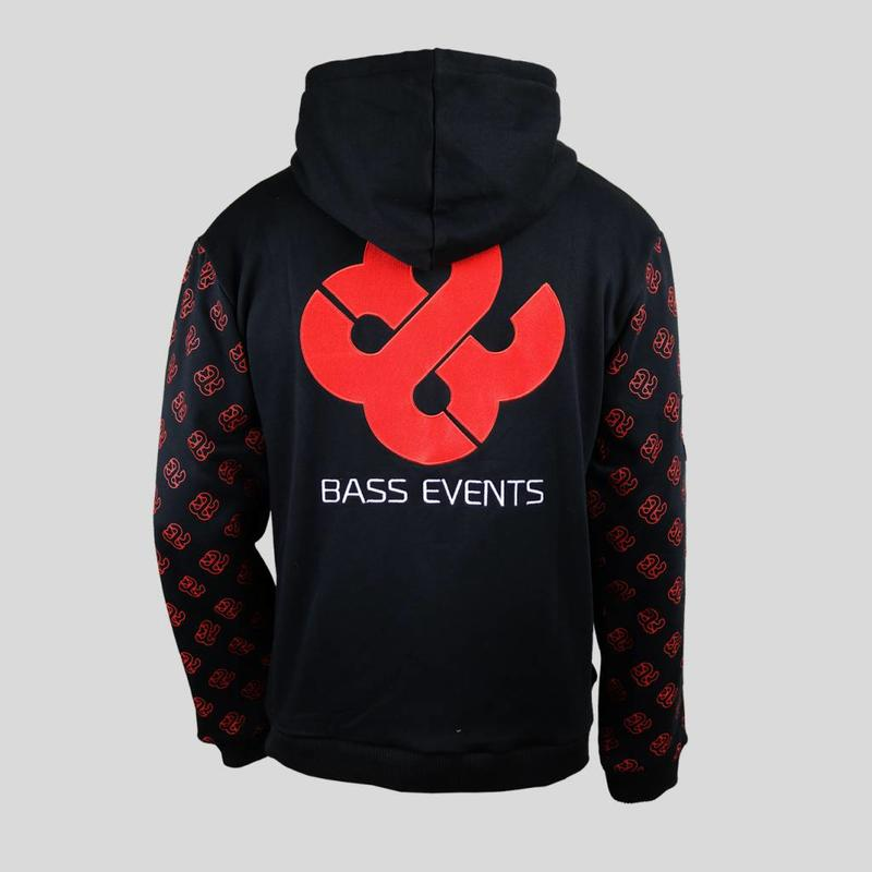Bass Events - Embroidered Hoody With Sleeve Print