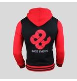Bass Events- Black/Red Women's Zipped Hoody