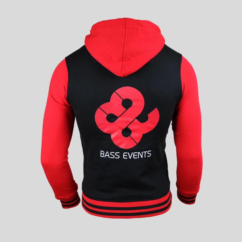 Bass Events- Black/Red Women's Zipped Hoody
