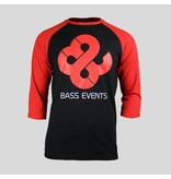 Bass Events - Black&Red T-Shirt With 3/4 Sleeves