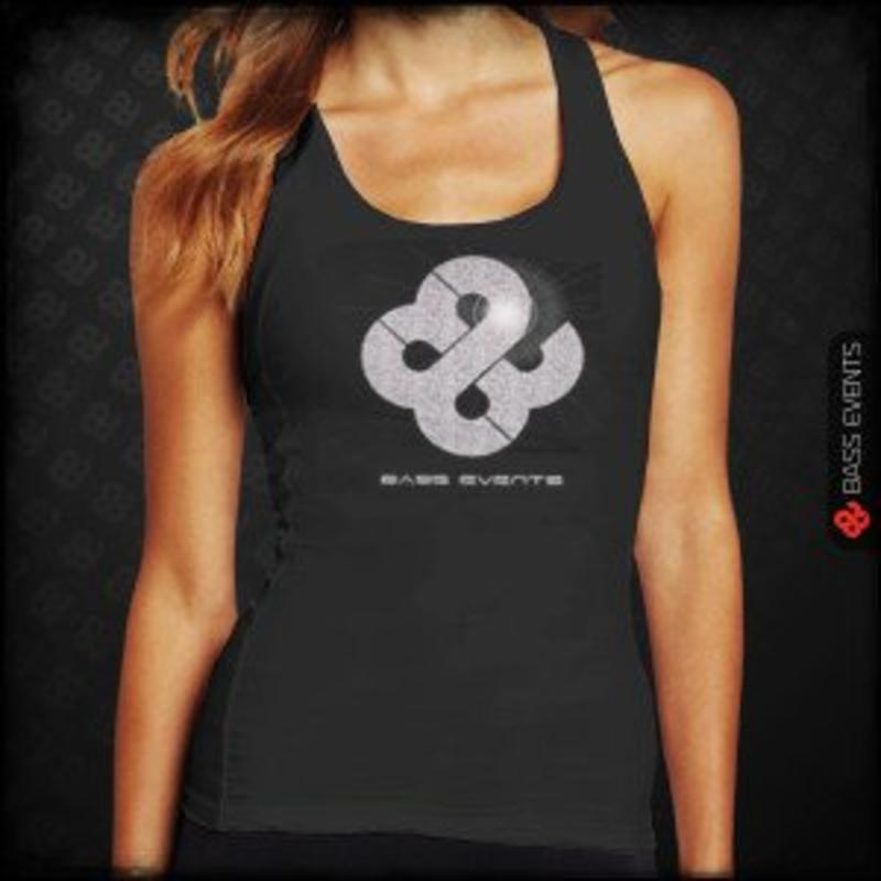 Bass Events - Black Glitter Tanktop