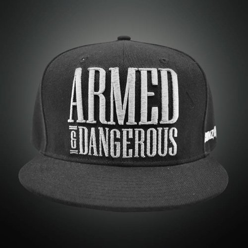 Gunz For Hire - Armed & Dangerous (White) Snapback