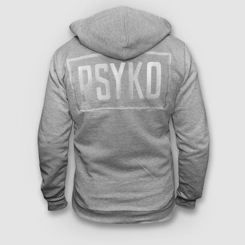 Psyko Grey Zipped Hoody