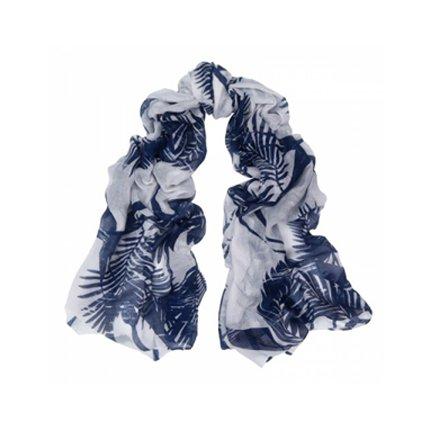 Scarf Leaf Blue - Sjaals