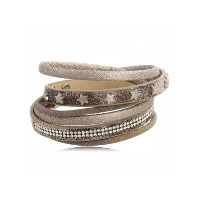 Leather Look Stars - Armbanden