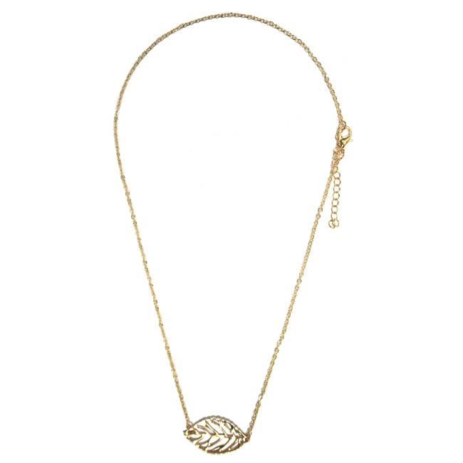 Leaf Gold Necklace - Kettingen