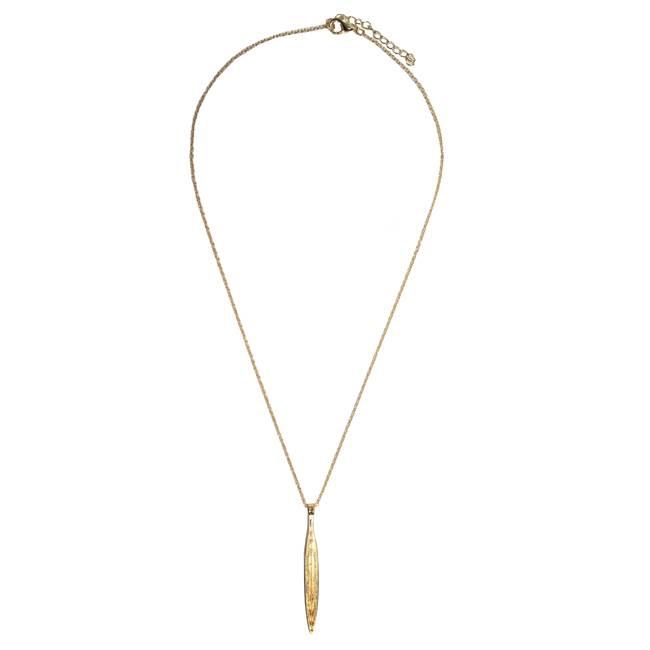 Oval Bar Gold Necklace - Kettingen