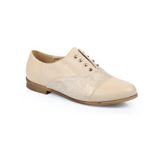 Creme Lace Up Shoes - Schoenen