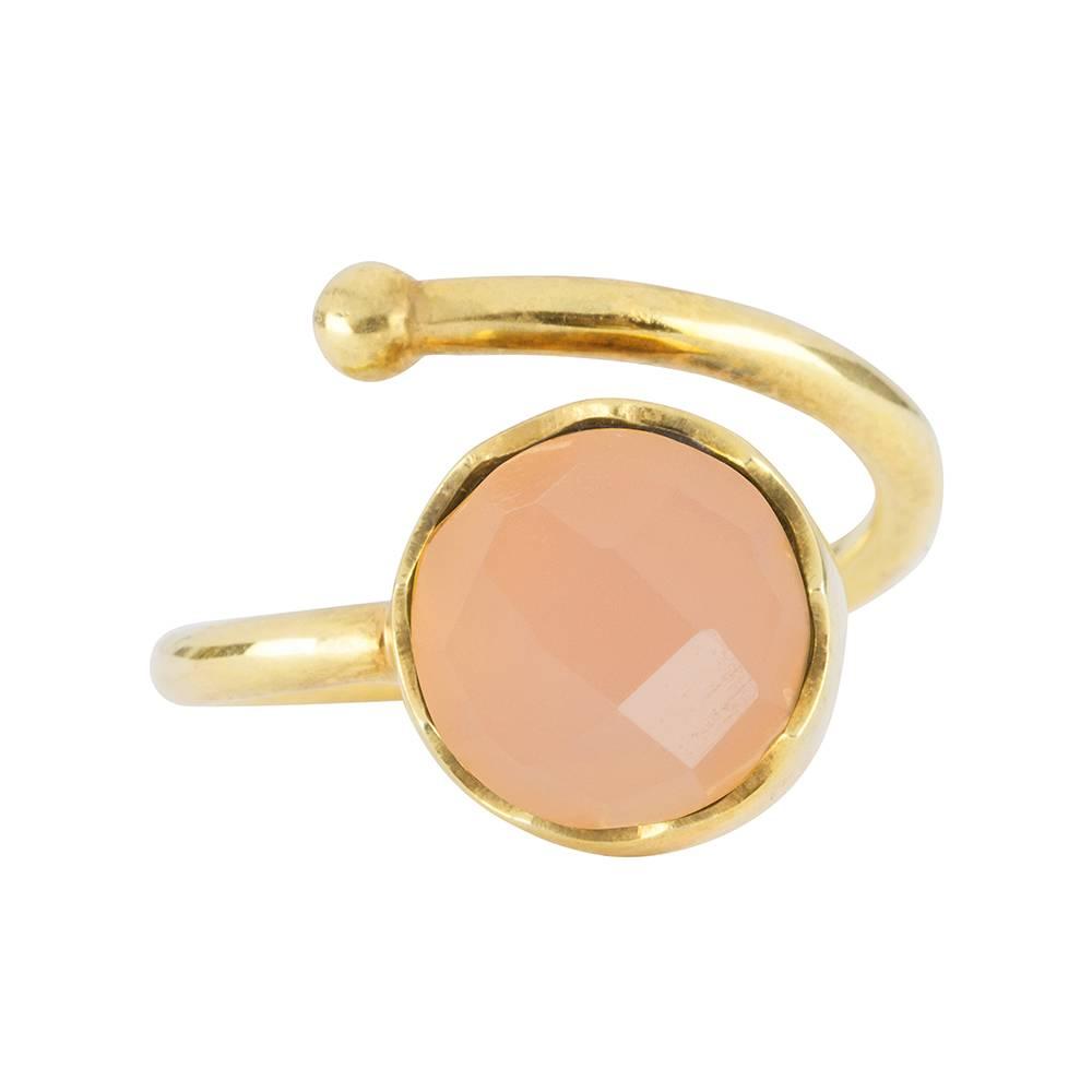 Gold ring Rose Quartz - Marissa Eykenloof