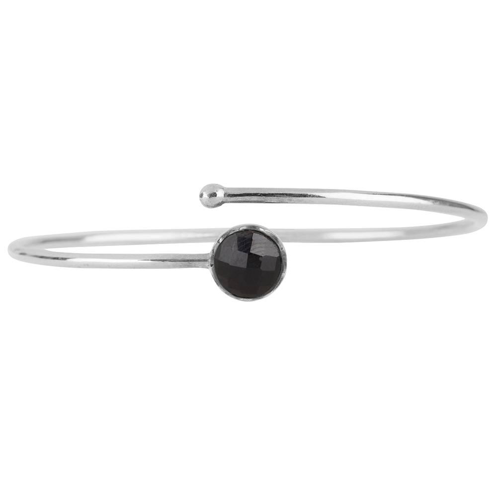 Marissa Eykenloof Silver Bracelet Black Onyx Kids