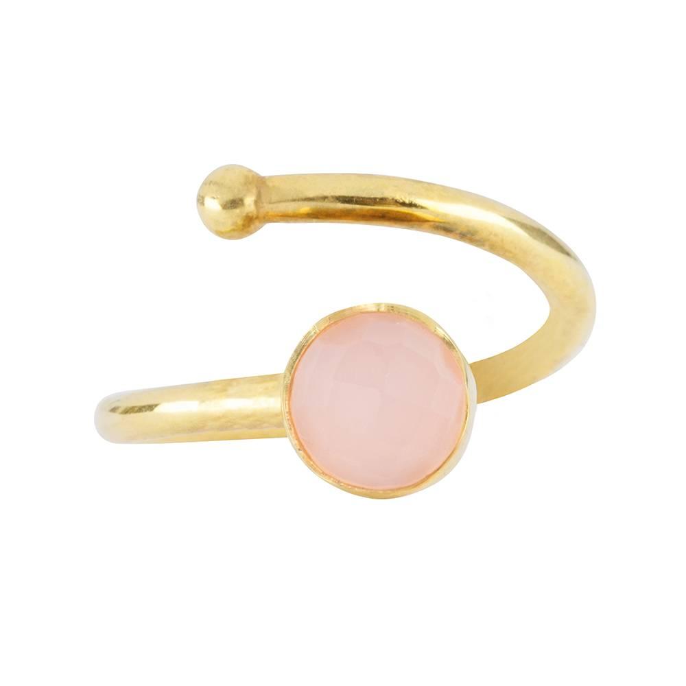Gold ring Rose Quartz kids - Marissa Eykenloof