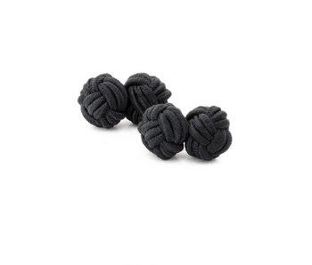 Manschettenknöpfe Knoten schwarz