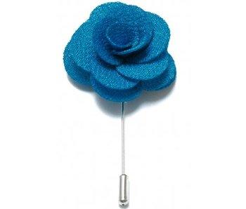 Lapel Pin Flower Blue