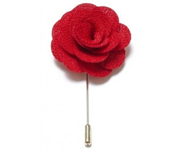 Lapel Pin Flower Red